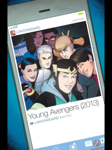 Superhero selfie (courtesy of the Young Avengers)