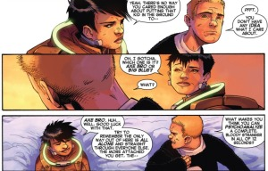 Cullen Bloodstone and Cammi share a moment in Murderworld.